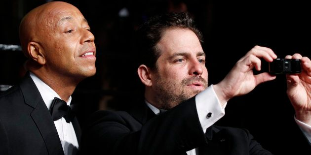 Russell Simmons et Brett Ratner pendant la soirée des Oscars en