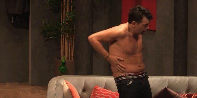 Stéphane Plaza a fini complètement nu lors de la dernière de sa pièce de