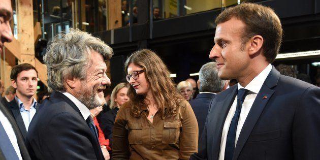 Le président Emmanuel Macron et Jean-Louis