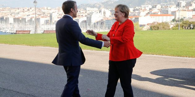 Emmanuel Macron et Angela Merkel à Marseille, le 7 septembre