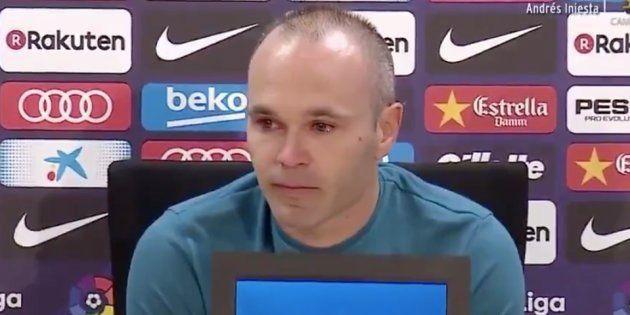 Vendredi 27 avril, Andrés Iniesta confirme son départ du FC