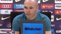 Iniesta n'a pas pu retenir ses larmes en annonçant son départ du