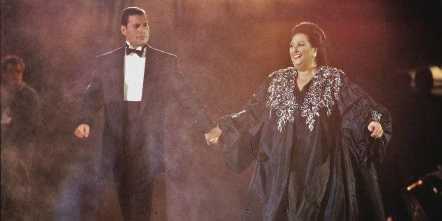 Freddie Mercury et Montserrat Caballé se produise à Barcelone le 8 Octobre