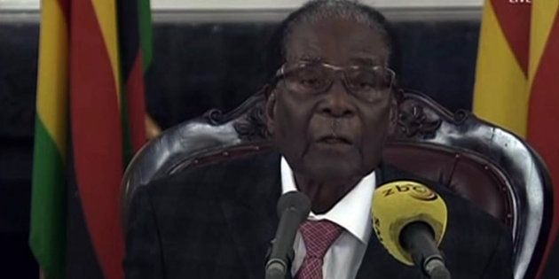 Robert Mugabe lors de son allocution du 19