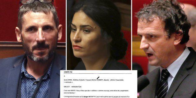 Les trois députés LREM, Matthieu Orphelin, Sonia Krimi et François-Marie Lambert ont été visés par des...