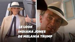 Le passage de Melania Trump aux pyramides a rappelé un personnage de film aux
