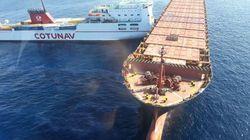 L'image des deux bateaux entrés en collision au large du Cap Corse, qui a provoqué une