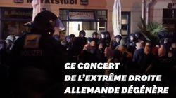Huit policiers blessés lors d'un concert de l'extrême droite en