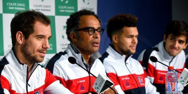 L'équipe de France de Coupe Davis à Lille le 21 novembre