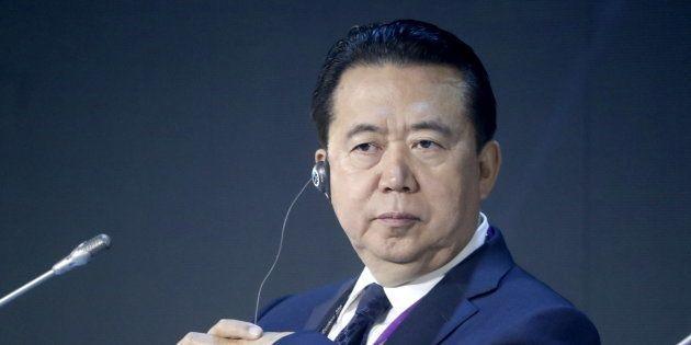 Meng Hongwei à Moscou le 6 juillet