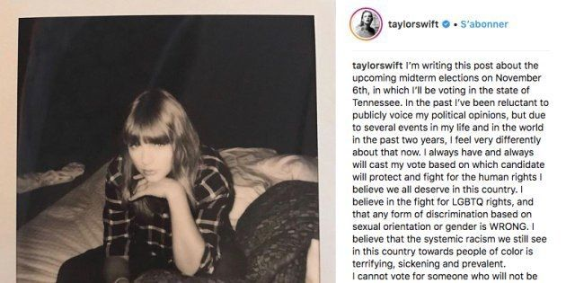Taylor Swift exprime pour la première fois ses opinions politiques (et ce n'est pas un