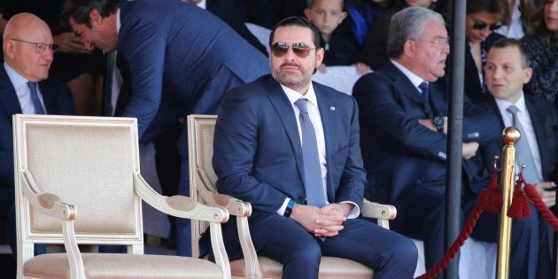 Saad Hariri lors de la parade militaire du 22 novembre, organisée à l'occasion de la fête nationale