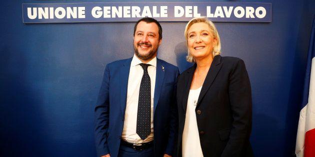 Le tandem Le Pen-Salvini rêve de