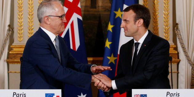 En Australie, Emmanuel Macron rencontrera le premier ministre Malcolm Turnbull, qu'il avait reçu à l'Elysée...