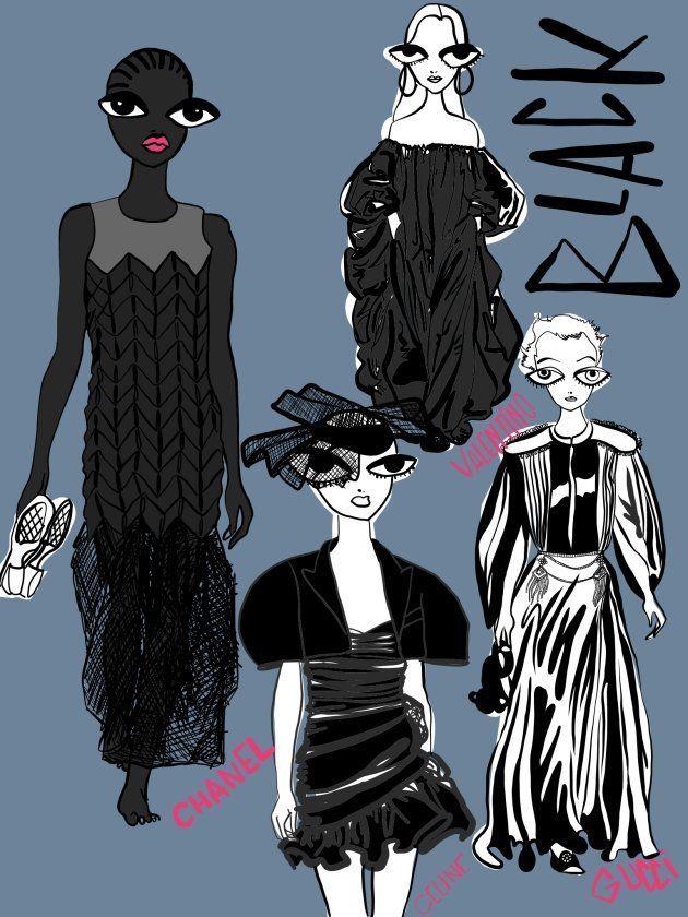 Carlotta Saracco's illustration, paris fashion