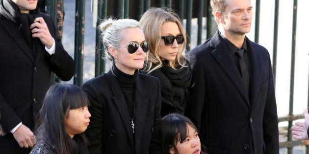 Avant l'affaire de l'héritage : Laeticia Hallyday, ses filles Jade et Joy, et Laura Smet et David Hallyday...