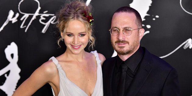 Jennifer Lawrence et Darren Aronofsky lors de la première new-yorkaise de 'mother!' le 13 septembre