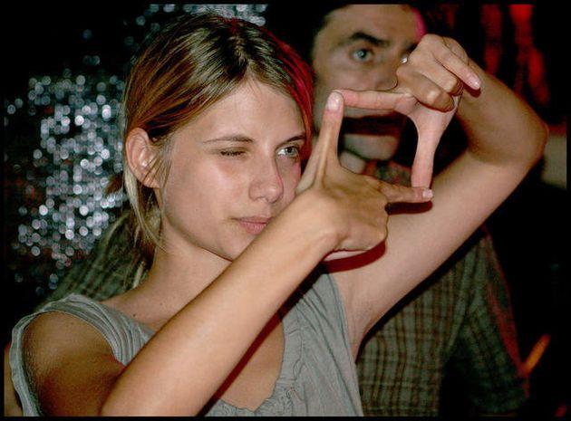 Mélanie Laurent lors de son premier tournage pour la série