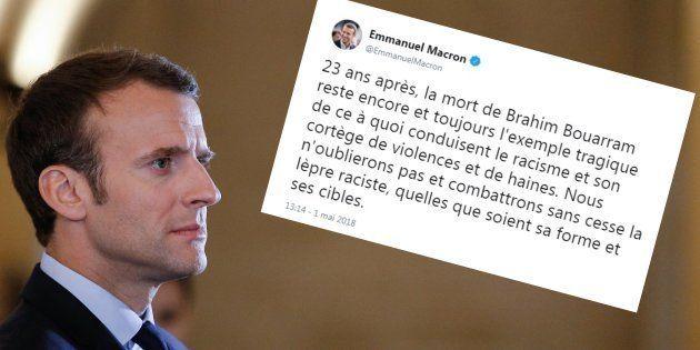 1er mai 2018: Macron salue la mémoire de Brahim Bouarram et dénonce