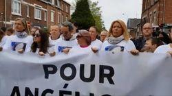 Les images poignantes des parents d'Angélique ouvrant la marche blanche en hommage à leur