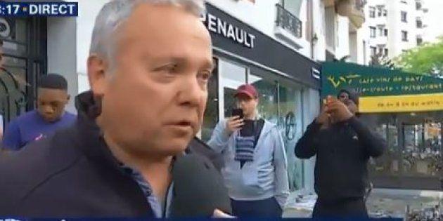 Manifestation 1er Mai 2018: l'émotion du gérant du magasin de voitures sans permis