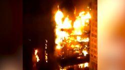 Une tour en flammes s'effondre au cœur de Sao