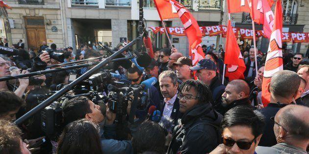Les syndicalistes FO lors de la manifestation parisienne de ce 9