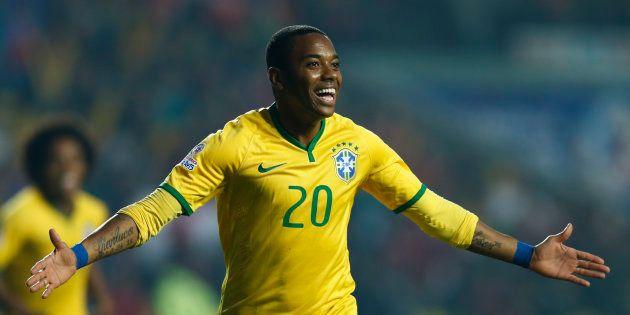 Robinho sous le maillot du Brésil en
