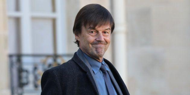 Nicolas Hulot à l'Elysée le 22 novembre