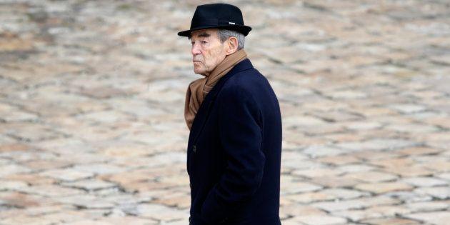 Robert Badinter aux obsèques d'Yves Guena, en mars