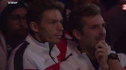 Les larmes de Julien Benneteau et Nicolas Mahut, remplaçants avant la finale de Coupe