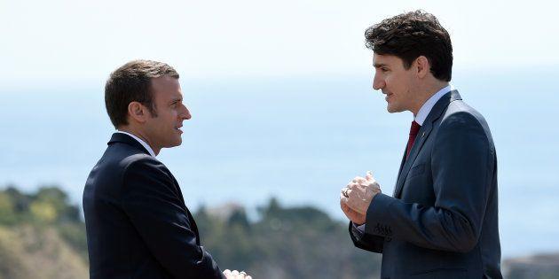 Le couple Macron-Trudeau évite de justesse un bras de fer sur la francophonie