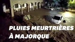 À Majorque, les images des pluies meurtrières qui ont fait au moins 10