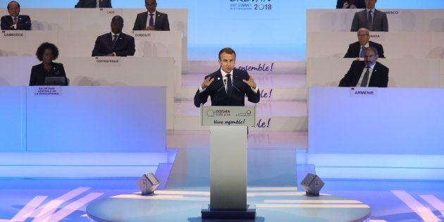 Francophonie: Macron victorieux mais critiqué pour son soutien à la candidate