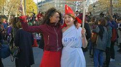 Les images de la manifestation à Paris contre les violences faites aux