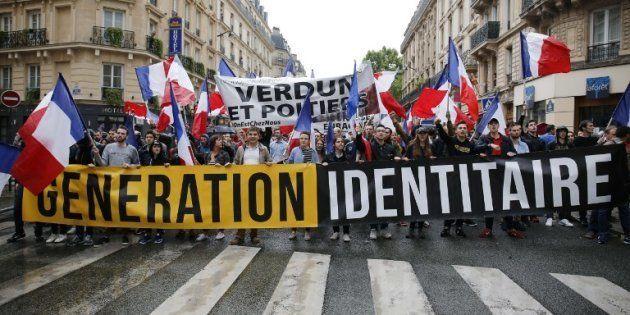 Une manifestation de Génération Identitaire à Paris en 2016. (photo