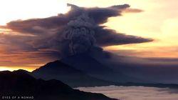 Les images du réveil du Mont Agung à