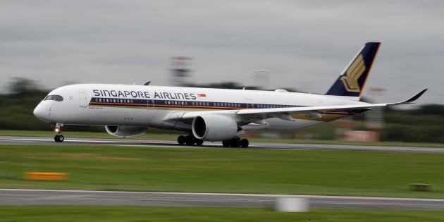 Un A350-900 de Singapore Airlines le 4 septembre à Manchester (photo