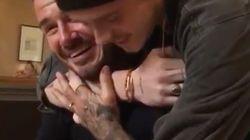 David Beckham très ému par la surprise de son fils pour son