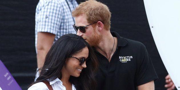 Le couple lors d'un événement sportif au Canada, en septembre