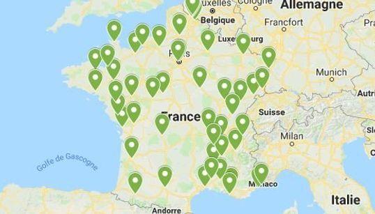 La carte des 60 marches pour le climat en