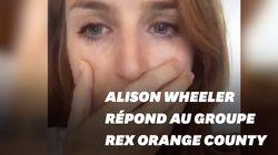 Alison Wheeler répond avec ironie à Rex Orange County après son boycott de