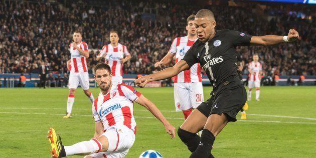 Kylian Mbappé lors de PSG-Etoile rouge de Belgrade le 3 octobre