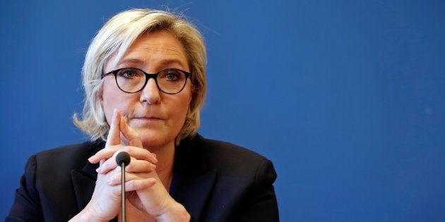 Marine Le Pen lors de sa conférence de presse du 22