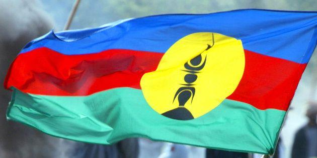 Le drapeau Kanak, devenu celui de la