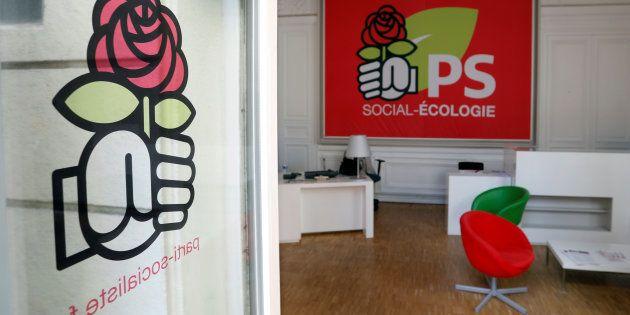 Vue intérieure du siège du PS rue de Solférino à Paris, le 20 septembre