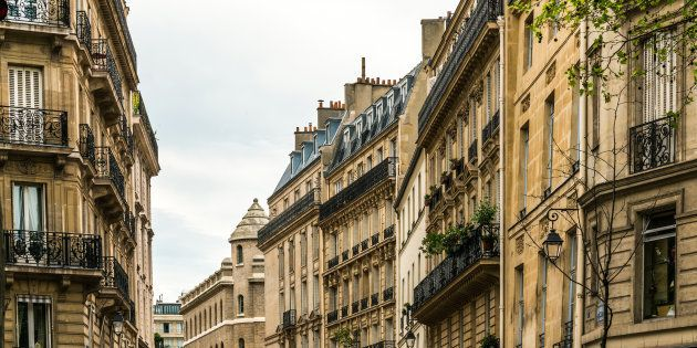 antique city building in paris, france