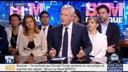 Les grèves à Air France et à la SNCF représentent 0,1% de PIB en moins, selon Bruno Le