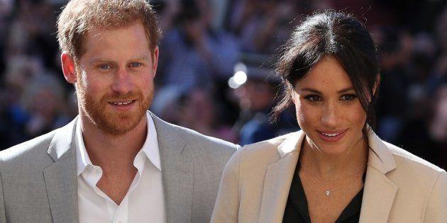 Le prince Harry et son épouse Meghan Markle, (ici le 3 octobre 2018) attendent leur premier enfant pour...