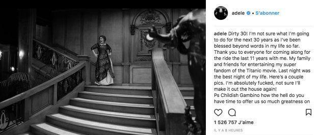 Adele a fêté ses 30 ans en mode